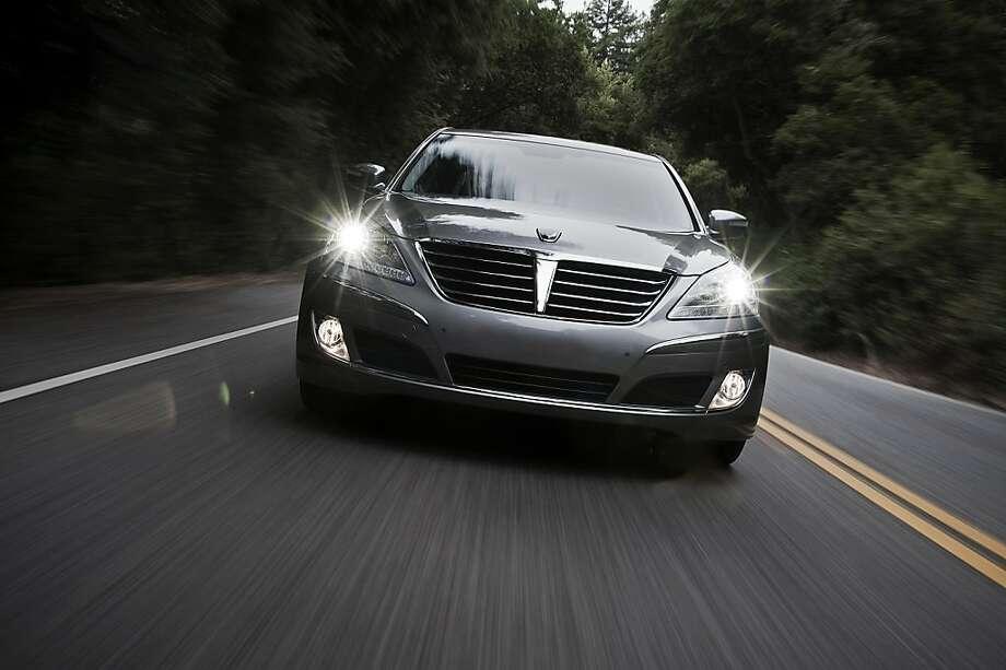 The Hyundia Equus already fits in surprisingly well among prestigious luxury-car company. Photo: Hyundai