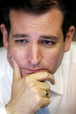 Republican candidate for U.S. Senate Ted Cruz watches election results, Tuesday, Nov. 6, 2012, in Houston. Cruz is running against Democrat Paul Sadler to replace retiring U.S. Sen. Kay Bailey Hutchison. (AP Photo/David J. Phillip) Photo: David J. Phillip, Associated Press / AP