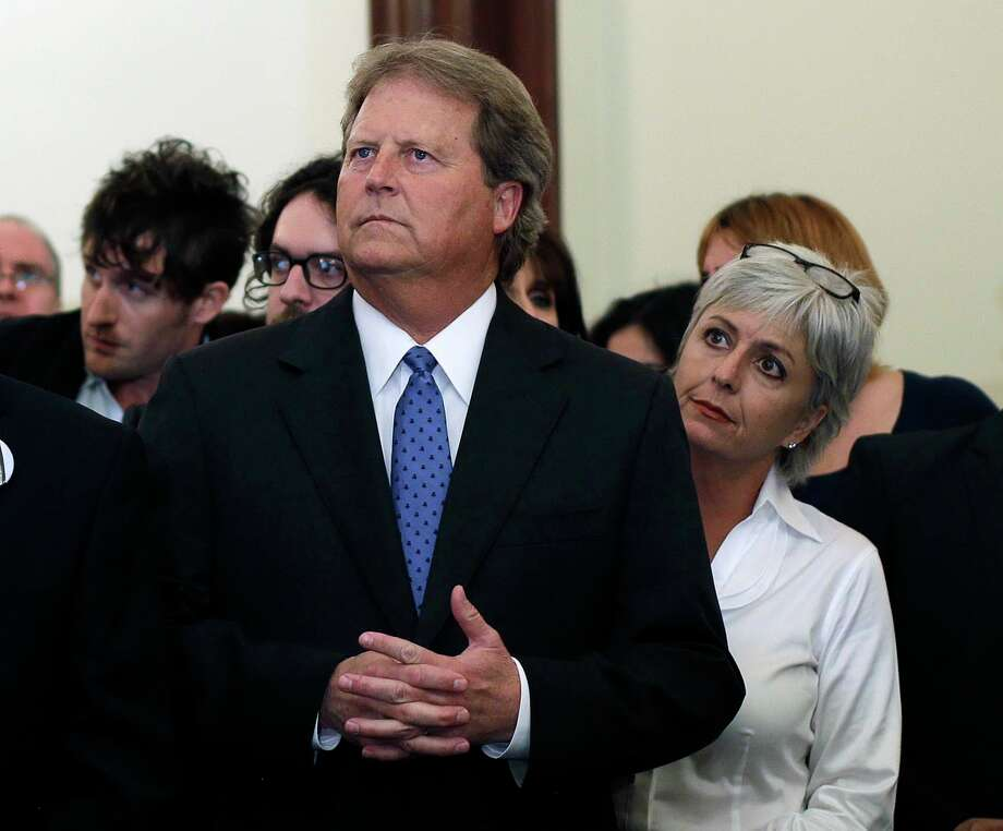 Democratic candidate for U.S. Senate Paul Sadler, left, stands with his wife, Sherri, as he waits to make his concession speech at the Texas Democratic Party election watch party , Tuesday, Nov. 6, 2012, in Austin, Texas. Photo: Eric Gay, Associated Press / AP