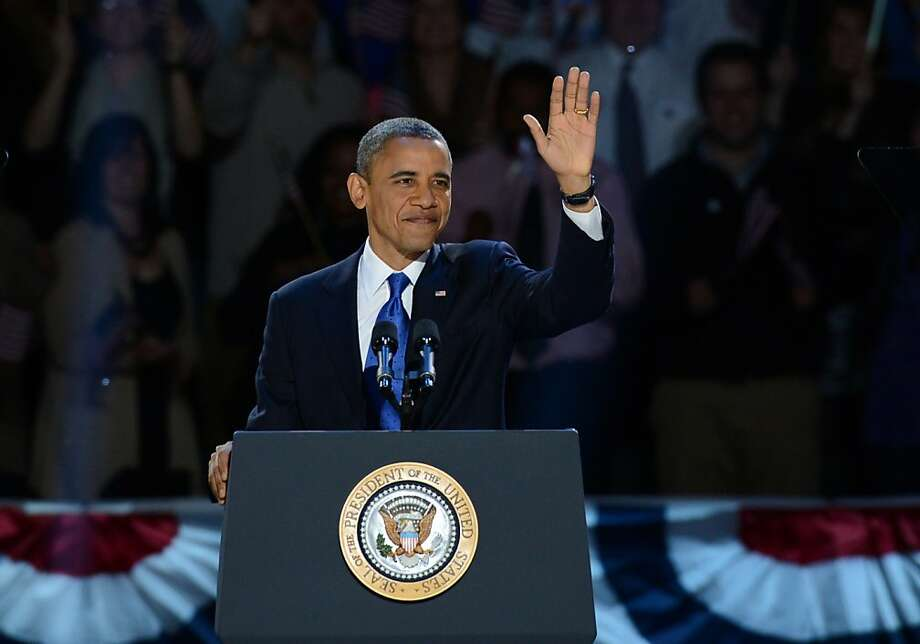 President Obama delivered his victory speech Tuesday night. Photo: Saul Loeb, AFP/Getty Images