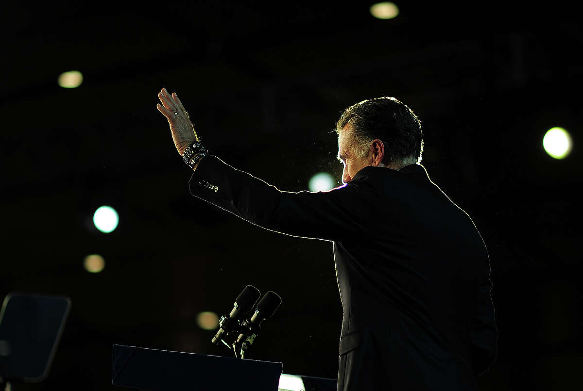 Republican presidential candidate Mitt Romney concedes defeat to US President Barack Obama November 7, 2012 in Boston, Massachusetts. AFP PHOTO/EMMANUEL DUNAND