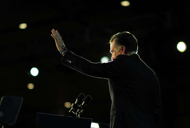 Republican presidential candidate Mitt Romney concedes defeat to US President Barack Obama  November 7, 2012 in Boston, Massachusetts.     AFP PHOTO/EMMANUEL DUNAND Photo: EMMANUEL DUNAND, AFP/Getty Images / 2012 AFP