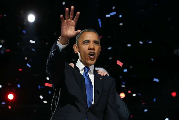 President Obama, shown giving his victory speech in Chicago, has been the target of some nasty tweets, especially because of his re-election campaign. Photo: Chip Somodevilla, Getty Images
