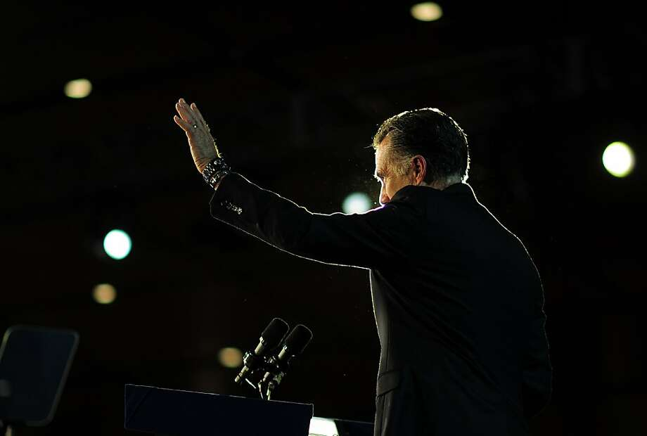 Republican presidential candidate Mitt Romney concedes defeat to US President Barack Obama  November 7, 2012 in Boston, Massachusetts.     AFP PHOTO/EMMANUEL DUNANDEMMANUEL DUNAND/AFP/Getty Images Photo: Emmanuel Dunand, AFP/Getty Images
