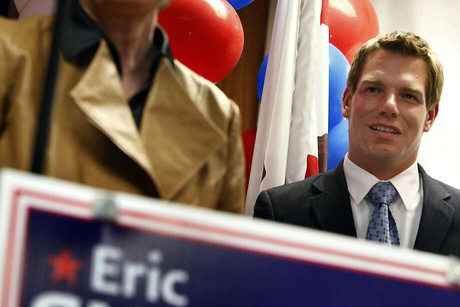 Eric Swalwell defeated longtime Rep. Pete Stark in the November congressional election. Photo: Carlos Avila Gonzalez, The Chronicle
