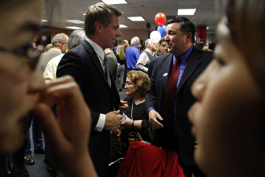 Tim Sbranti (right) is in a tight race for the 16th Assembly District. Photo: Carlos Avila Gonzalez, The Chronicle