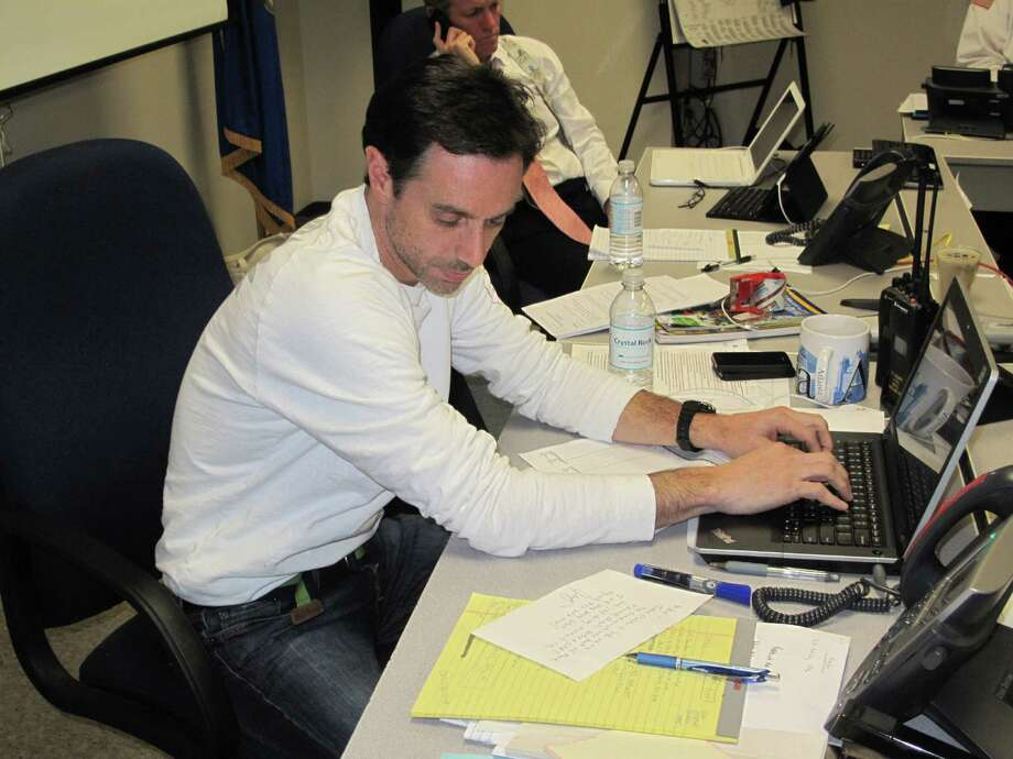 OEM Director Mike Handler at work in the EOC on Nov. 2. Photo: Tyler Woods