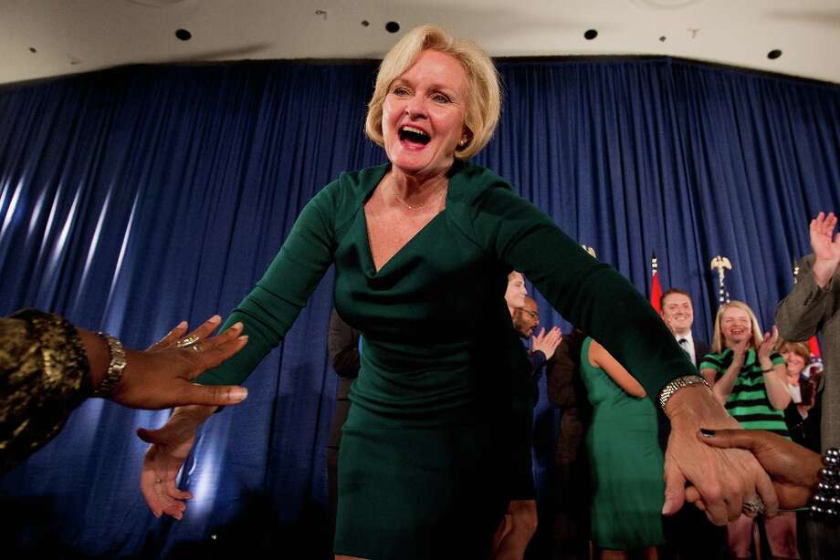 ST. LOUIS, MO - NOVEMBER 6:  U.S. Sen. Claire McCaskill (D-MO) greets supporters during an election night party November 6, 2012 in St. Louis, Missouri. McCaskill defeated Rep. Todd Akin (R-MO) for the Missouri U.S. Senate seat. McCaskill won in her re-election bid against U.S. Rep. Todd Akin (R-MO) for the Missouri U.S. senate seat.  (Photo by Whitney Curtis/Getty Images) Photo: Whitney Curtis, Getty Images / 2012 Getty Images