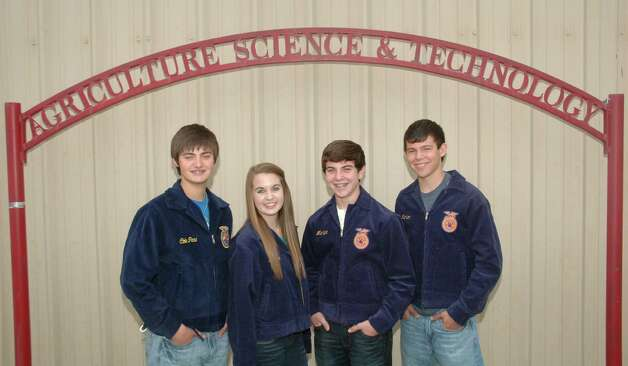 Pictured left to right are members of the SVHS Ag Sales Team Chase Maddox, Kirsten Crutcher, Trevor Perkins and Kyler Patton. The team finished second recently in the agriculture sales competition at the National FFA Convention and Expo in Indianapolis. Photo: Courtesy Photo