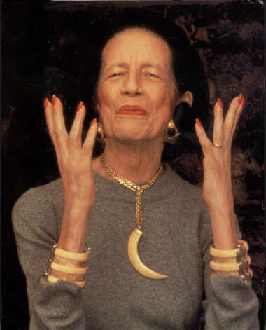 Vreeland was known for her fashion flair and flamboyance as a columnist at Harper's Bazaar and later as editor-in-chief of Vogue.