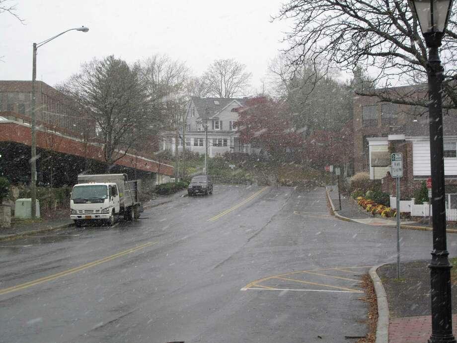 Snow on Cherry Street.11/7/12. Photo: Tyler Woods