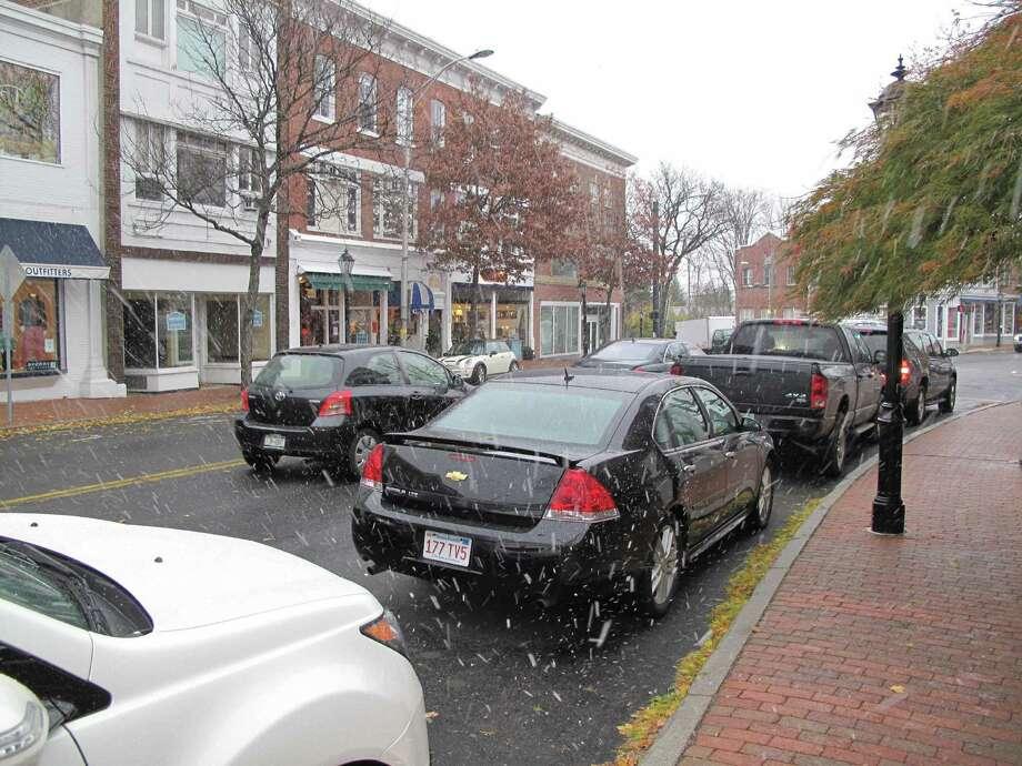 Snow on Main Street. 11/7/12. Photo: Tyler Woods