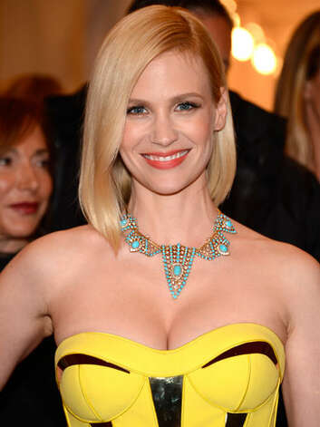 January Jones Five seasons of Mad Men later, January has ditched her girlish ways for a more sophisticated style. Her sleek side part and angular long bob at the  Metropolitan Museum of Art's Costume Institute Gala in 2012, give her a modern edge that sets her apart from her retro character.  Reprinted with Permission of Hearst Communications, Inc. Originally Published: 60 Best Celebrity Makeovers of All Time Photo: Getty Images / 2012 Kevin Mazur