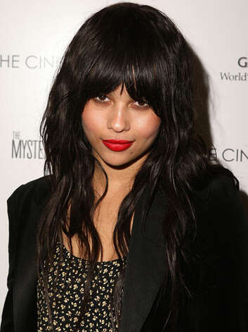 Zoe Kravitz As the lone offspring of Lenny Kravitz and Lisa Bonet, Zoe is guaranteed to be a member of the cool crowd. At a screening of The Mysteries of Pittsburgh in 2009 she showed off her hipster status with thick, rounded bangs and cherry red lips.  Reprinted with Permission of Hearst Communications, Inc. Originally Published: 60 Best Celebrity Makeovers of All Time Photo: Getty Images / 2009 Getty Images