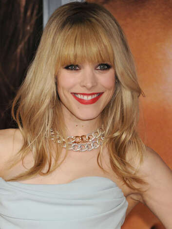 Rachel McAdams Rachel upgraded to vamp for the premiere of The Vow in 2012. She's got an of-the-moment edge with thick bangs and dark eye liner—not to mention the swipe of red lipstick that takes her to the level of major Hollywood star.  Reprinted with Permission of Hearst Communications, Inc. Originally Published: 60 Best Celebrity Makeovers of All Time Photo: Getty Images / 2012 Jeffrey Mayer