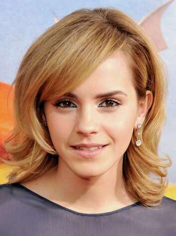 Emma Watson At the 2008 premier of The Tale of Despereaux, Emma is still the innocent Hermoine from the Harry Potter epic with her sideswept bangs, shoulder-length curls, and basic makeup look.  Reprinted with Permission of Hearst Communications, Inc. Originally Published: 60 Best Celebrity Makeovers of All Time Photo: Getty Images / 2008 Getty Images