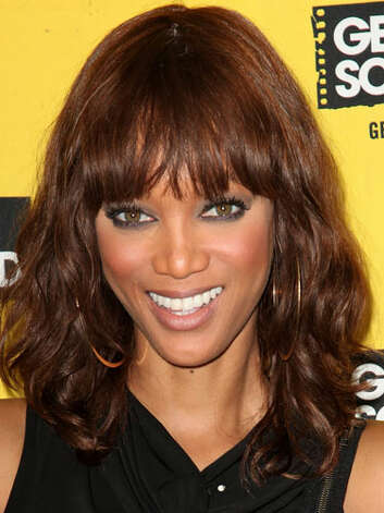 Tyra Banks Although there is no concrete evidence that Tyra has been under the knife, her nose is looking slimmer at the 2011 Get Schooled Foundation pep rally hints. Either way we support the model mogul's choice to add blunt bangs to her updated bob.  Reprinted with Permission of Hearst Communications, Inc. Originally Published: 60 Best Celebrity Makeovers of All Time Photo: Getty Images