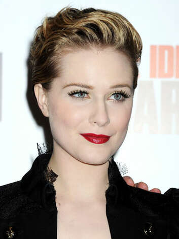 Evan Rachel Wood Evan is taking more fashion risks with her red lipstick, plummeting neckline, and short pixie coif that is reminiscent of James Dean's greaser look at the 2011 Ides of March screening.  Reprinted with Permission of Hearst Communications, Inc. Originally Published: 60 Best Celebrity Makeovers of All Time Photo: Getty Images