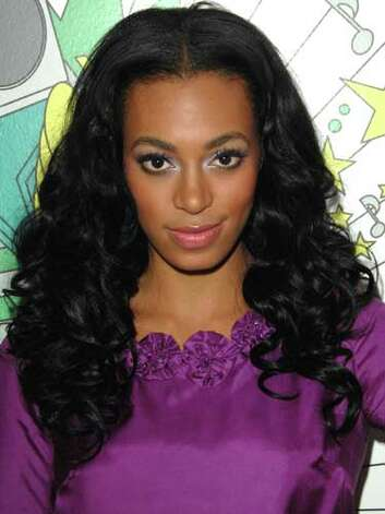 Solange Knowles Solange's is still living in her big sister's shadow. Her long curls and conservative purple dress at a 2007 taping of MTV's TRL are more safe than superstar.  Reprinted with Permission of Hearst Communications, Inc. Originally Published: 60 Best Celebrity Makeovers of All Time Photo: Getty Images