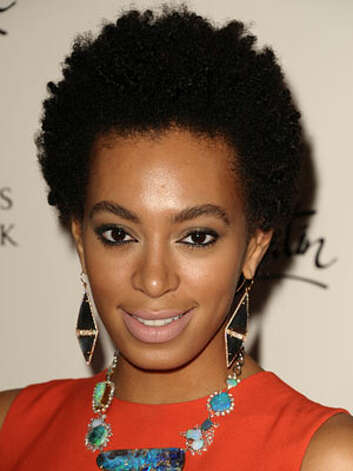 Solange Knowles After a drastic cut in 2009, Solange is coming into her own style. She takes fashion risks with her bold colors, chunky jewelry, pastel lips and thick natural hair and brows at the Christian Louboutin book launch  Reprinted with Permission of Hearst Communications, Inc. Originally Published: 60 Best Celebrity Makeovers of All Time Photo: Getty Images