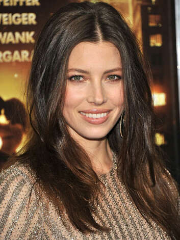 Jessica Biel Jessica has darkened her mane and lightened her makeup palette creating a more professional and poised persona at the premiere of New Year's Eve.  Reprinted with Permission of Hearst Communications, Inc. Originally Published: 60 Best Celebrity Makeovers of All Time Photo: Getty Images