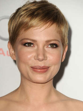 Michelle Williams We love her pixie crop at the My Week with Marilyn screening. It allows us to admire her full rosy cheeks and sparkling eyes.  Reprinted with Permission of Hearst Communications, Inc. Originally Published: 60 Best Celebrity Makeovers of All Time Photo: Getty Images