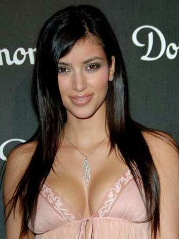 Kim Kardashian We love Kim's natural brows and makeup palette at the Dom Perignon and Karl Lagerfeld International Launch in 2006, but it is clear where she got her fame from her eye-catching cleavage.  Reprinted with Permission of Hearst Communications, Inc. Originally Published: 60 Best Celebrity Makeovers of All Time Photo: Getty Images