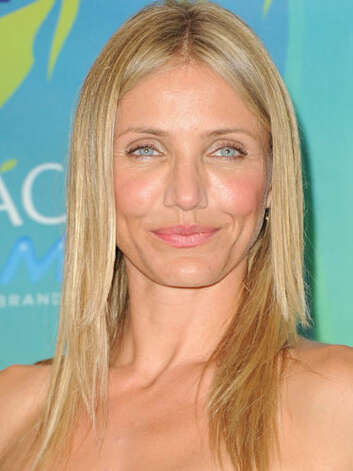 Cameron Diaz This long straight hairdo makes Cameron appear to be a beach babe at the 2011 Teen Choice Awards. Her rosy cheeks only complement a style that has only gotten younger with time.  Reprinted with Permission of Hearst Communications, Inc. Originally Published: 60 Best Celebrity Makeovers of All Time Photo: Getty Images