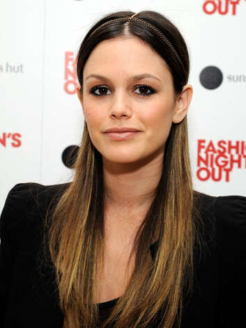 Rachel Bilson At 2011 Fashion Night Out, Rachel middle part, headband and ombre highlights prove she has been spending more time in the boutiques honing her fashion sense.  Reprinted with Permission of Hearst Communications, Inc. Originally Published: 60 Best Celebrity Makeovers of All Time Photo: Getty Images