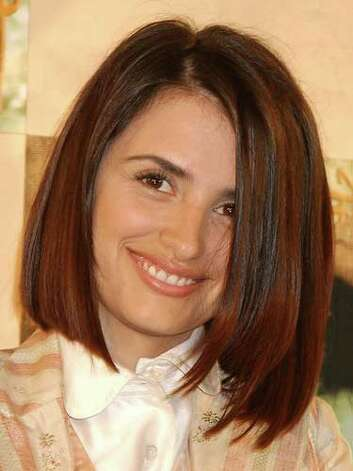 Penelope Cruz We do love Penelope's asymmetrical bob at this 2002 press conference for SABERA. The cut draws the eye to her strong facial features.  Reprinted with Permission of Hearst Communications, Inc. Originally Published: 60 Best Celebrity Makeovers of All Time Photo: Getty Images