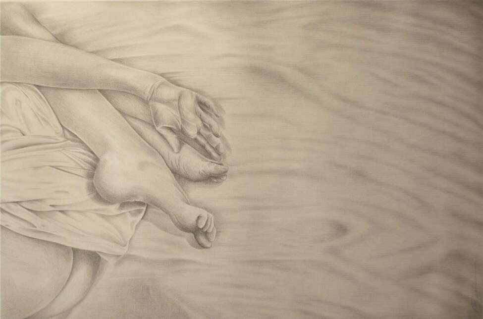 Jon Gernon?s Reverie - Silverpoint & 24k Goldpoint on prepared paper - 16
