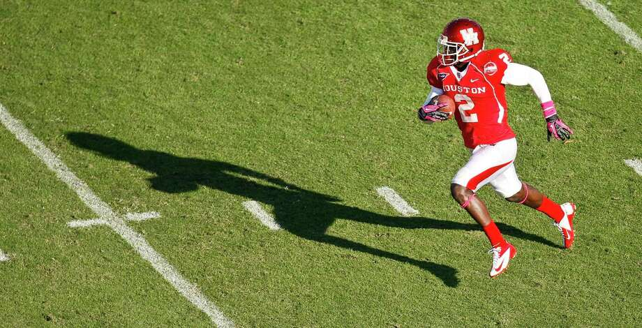 Former UH defensive back was scouted by 27 NFL teams at the Cougars' pro day. ( Nick de la Torre / Houston Chronicle ) Photo: Nick De La Torre, Houston Chronicle / © 2012  Houston Chronicle