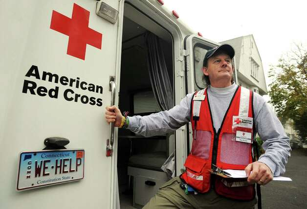 Mark Rozelle, manager of the Red Cross emergency shelters in Fairfield County, had a blur of a week leading up to and then following Hurricane Sandy. Rozelle and Red Cross volunteers were at the Red Cross headquarters on Brooklawn Avenue in Bridgeport, Conn. on Wednesday, Nov. 7, 2012, preparing for future shelters as a nor'easter approaches Connecticut. Photo: Cathy Zuraw / Connecticut Post