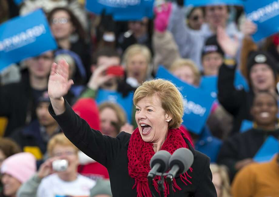 Tammy Baldwin becomes the first openly gay senator. She beat Tommy Thompson in Wisconsin. Photo: Tom Lynn, Associated Press