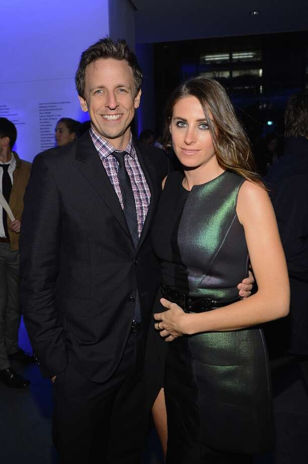 "Seth Meyers and Alexi Ashe attend the Tribeca Film Institute Benefit Screening Of ""Skyfall"" After Party at the Museum of Modern Art on November 5, 2012 in New York City. Photo: Larry Busacca, Getty Images / 2012 Getty Images"