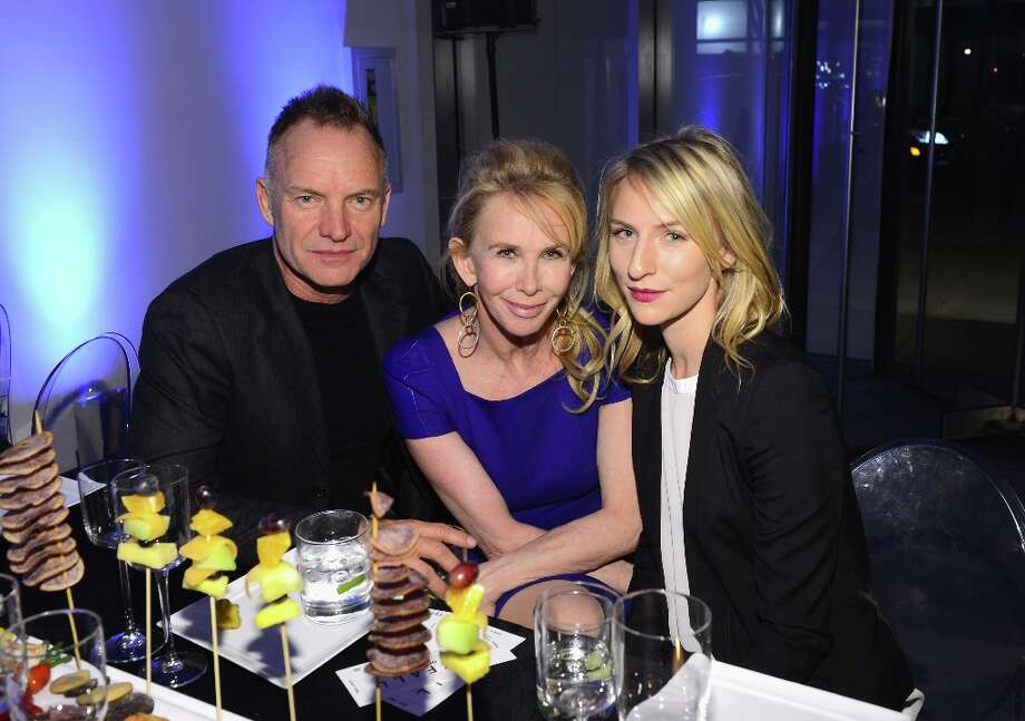 "(L-R) Sting,Trudie Styler, and Mickey Sumner attend the Tribeca Film Institute Benefit Screening Of ""Skyfall"" After Party at MOMA on November 5, 2012 in New York City. Photo: Larry Busacca, Getty Images / 2012 Getty Images"