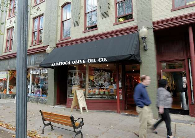 A view of the Saratoga Olive Oil Co. on Tuesday, Oct. 30, 2012 on Broadway in Saratoga Springs, NY.  The store sells different flavors of olive oil, balsamic vinegar and salt. (Paul Buckowski / Times Union) Photo: Paul Buckowski
