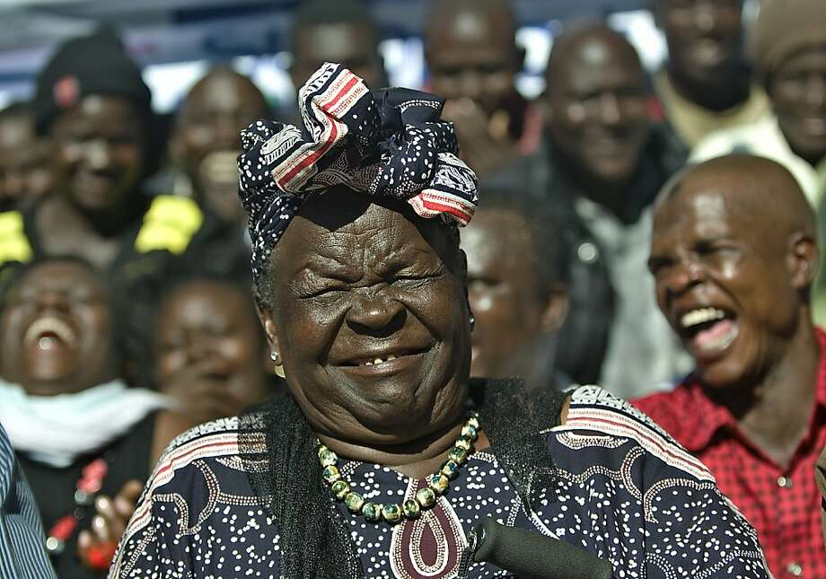 Many happy returns: A tickled Sarah Obama, step-grandmother of President Obama, celebrates his re-election with members of her family in the hamlet of Kogelo, Kenya. Photo: Tony Karumba, AFP/Getty Images
