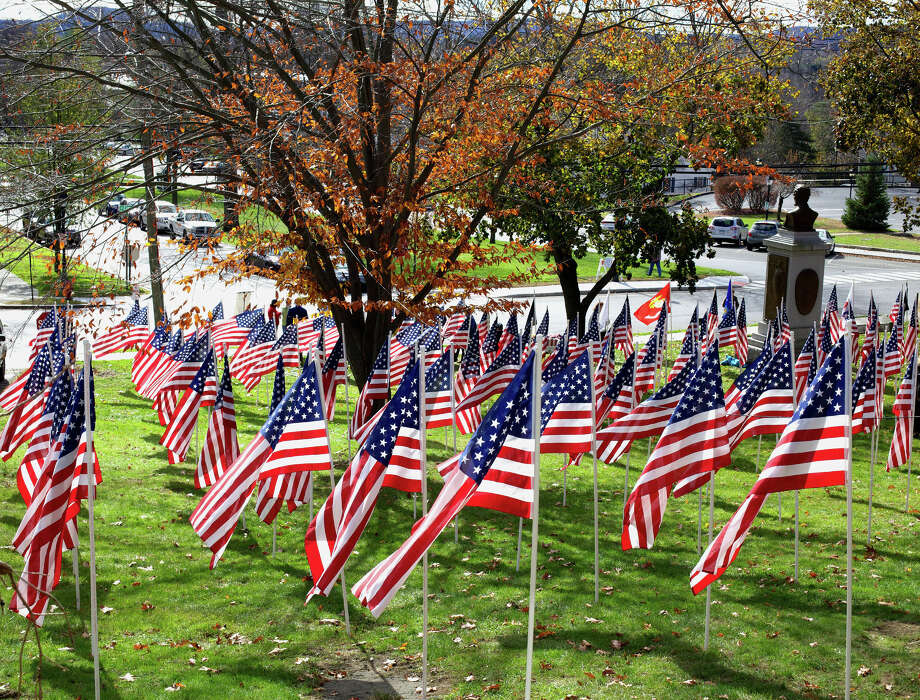Field of Honor  The Kiwanis Club Foundation of Greater Danbury is hoping to raise funds for veterans groups and its own programs via the Field of Honor at the north end of the Village Green in New Milford. The flags will stand proudly through Pearl Harbor Day on Dec. 7. For more photographs and the story, see Page S11. Nov. 3, 2012 Photo: Trish Haldin