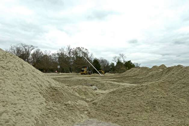 """This is the biggest (sand) displacement I've seen in 18 years working with the town,"" said Craig Whitcomb, the manager of the Town's Marine and Facilities Operation Division. Photo: Contributed Photo / Greenwich Citizen"