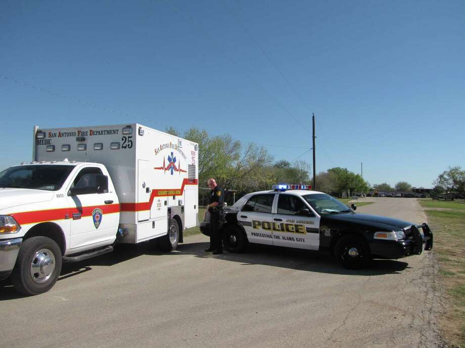 Police and paramedics respond to a fatal self-inflicted shooting at A Place to Shoot on the 13000 block of Pleasanton Road about noon on Wednesday, November 07, 2012. Photo: Ana Ley