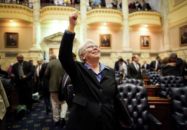 Allows gay marriage: Maryland. In this Feb. 17, 2012 file photo, Rep. Maggie McIntosh, D-Baltimore 