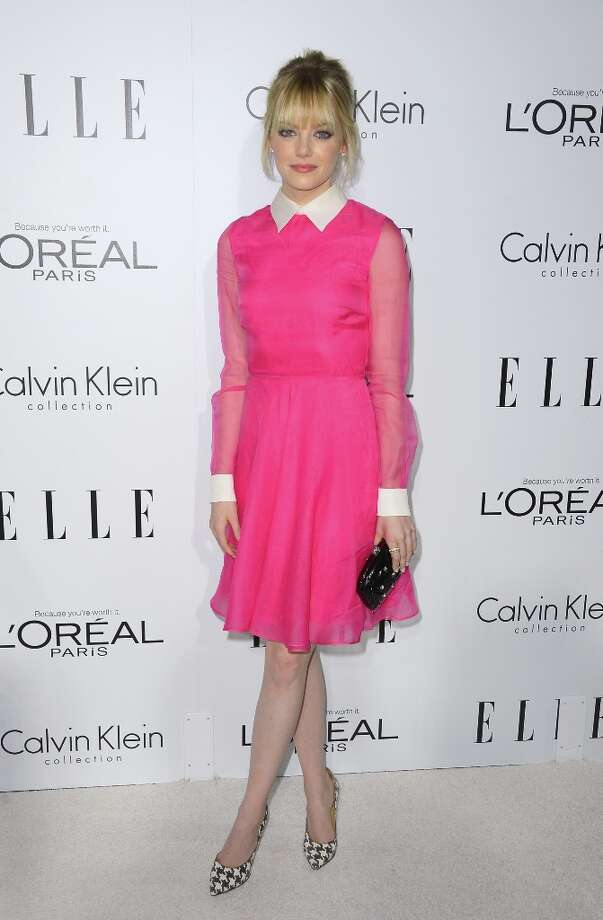 Emma Stone has been crowned Hollywood's most stylish star of 2012 in a poll by a British InStyle. Photo: Frazer Harrison, Getty Images / 2012 Getty Images