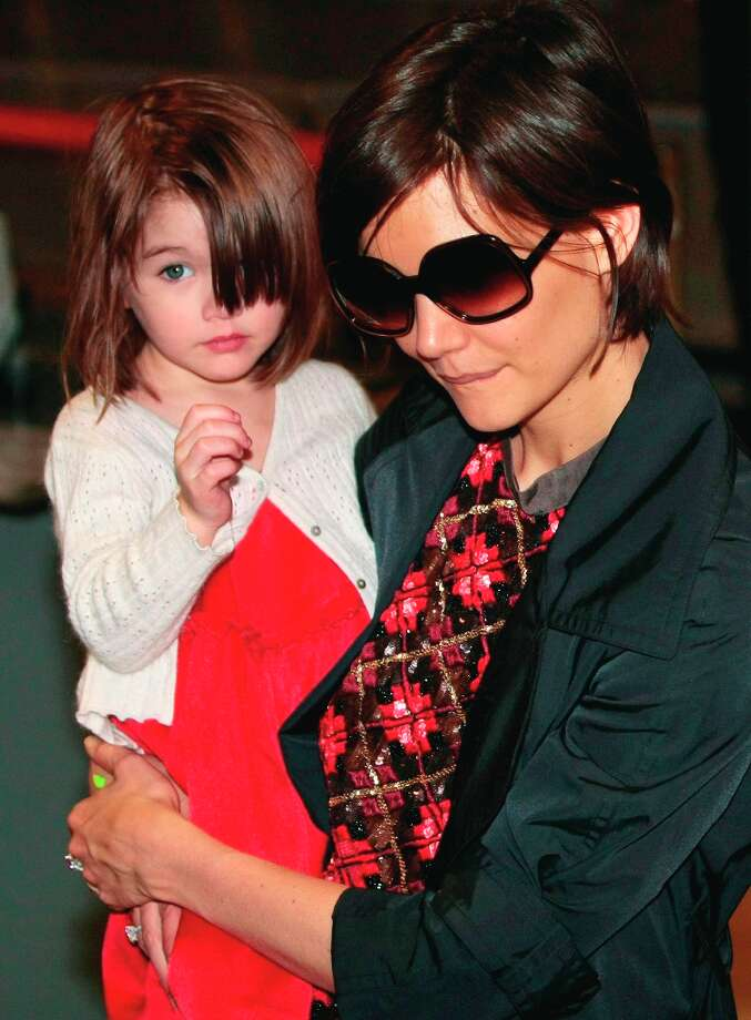 In a surprise appearance, it's Suri Cruise, not her mom Katie Holmes, who's the ninth most stylish celeb. Photo: Itsuo Inouye, AP / 2009 AP