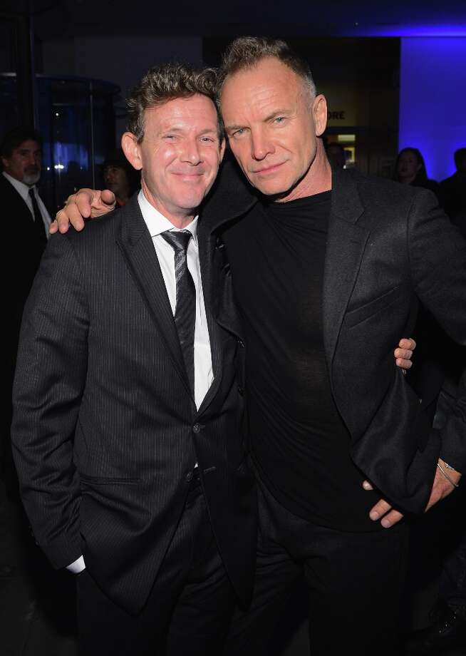 "John Logan, and Sting attend the Tribeca Film Institute Benefit Screening Of ""Skyfall"" After Party at MOMA on November 5, 2012 in New York City. Photo: Larry Busacca, Getty Images / 2012 Getty Images"
