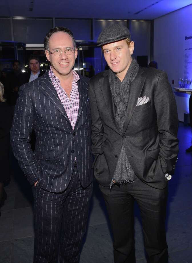 "Andrew Saffir and Daniel Benedict attend the Tribeca Film Institute Benefit Screening Of ""Skyfall"" After Party at the Museum of Modern Art on November 5, 2012 in New York City. Photo: Larry Busacca, Getty Images / 2012 Getty Images"