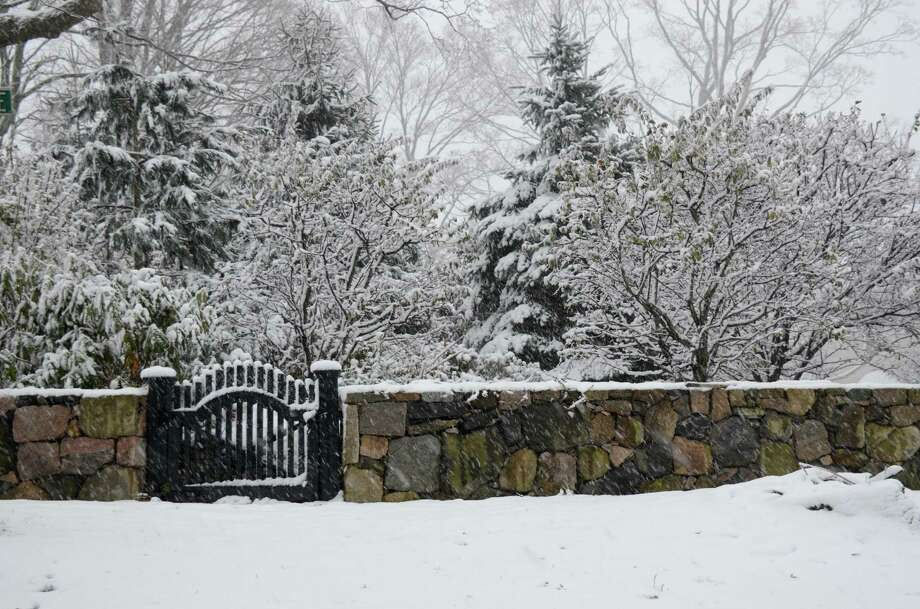 First snow in New Canaan, Conn. Wednesday, Nov. 7, 2012. Photo: Jeanna Petersen Shepard
