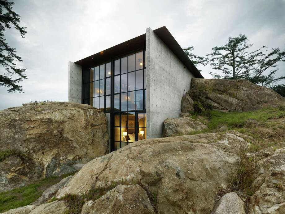 "Honor Award:The Pierre, by Tom Kundig, Olson Kundig Architects. Jurors called this house in the San Juan Islands a ""conceptually amazing project which was dramatic and skillful in its execution."" They particularly lauded the architect's defining choice to literally carve out a place for the home in the existing rock of the site. The Pierre also won a regional honor award. Photo: Copyright Dwight Eschliman"