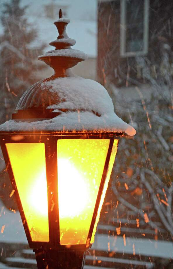 First snow of November in New Canaan.  Nov. 7, 2012, New Canaan, Conn. Photo: Jeanna Petersen Shepard