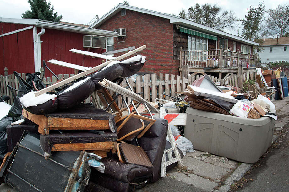 Sandy's damage was evident in Gerritsen Beach. (Adrian Kinloch / Flickr)